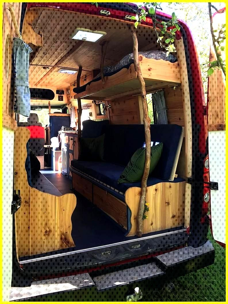 Campervan Hire Quirky Campers Home of Handmade Campers Rosie s waney-edged carpentry is mindblowing
