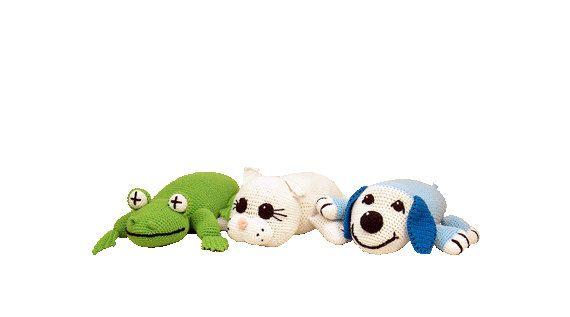 PDF Amigurumi Pillow - Crochet Pillow Pattern - Crochet Frog, Kitten ...