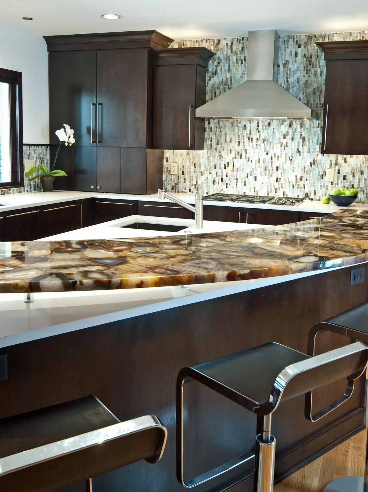 10 High-End Kitchen Countertop Choices | Pinterest | White quartz ...