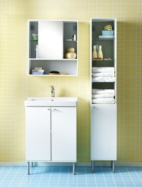 FULLEN Wash-basin cabinet, white | Vanity desk, Tiny houses and ...