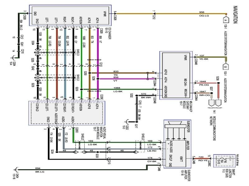 2007 ford five hundred radio wiring diagram  save wiring