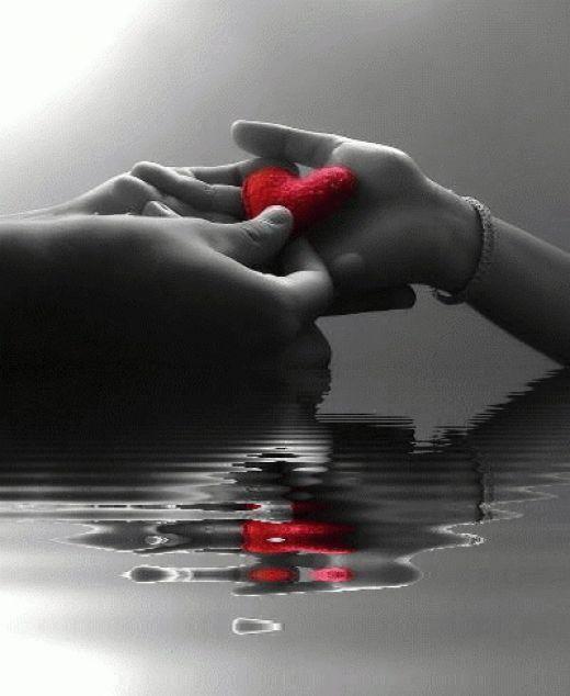 Don T Be Afraid To Love A Poem Color Splash Color Splash Red Heart Gif