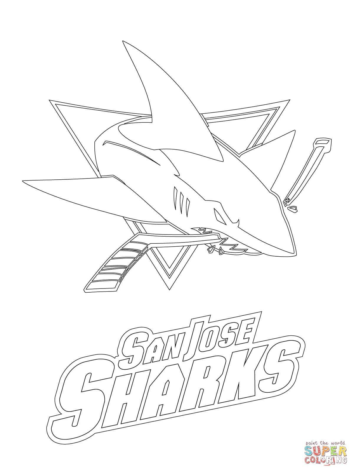 San Jose Sharks Logo Super Coloring Shark Coloring Pages
