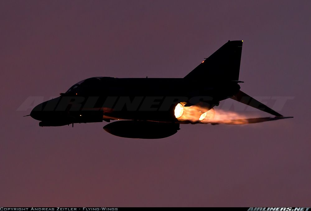 McDonnell Douglas F 4 Phantom II On Full Afterburner Reheat F 4