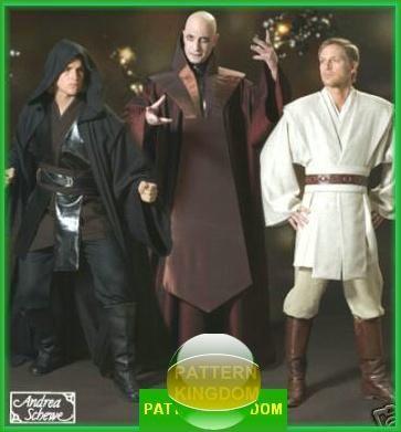 Simplicity 4450 STAR WARS Jedi Dark Lord Cloak Tunic Patterns | Diy ...