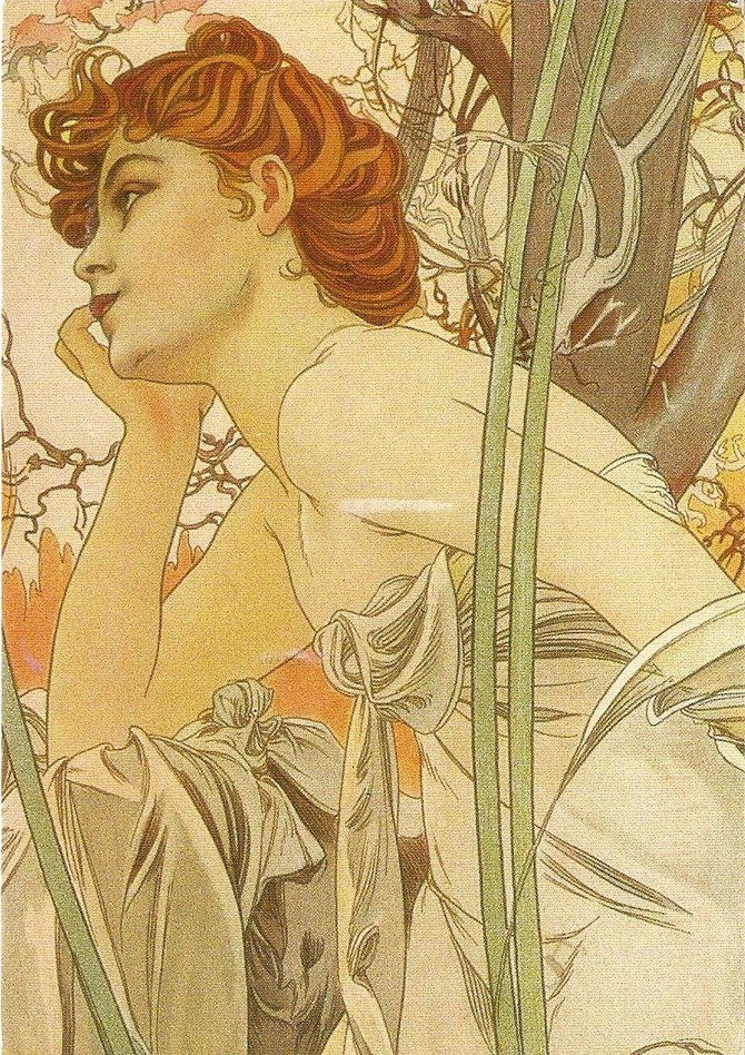 what kind of paint to use in living room alfons mucha de jour alphonse mucha 28310