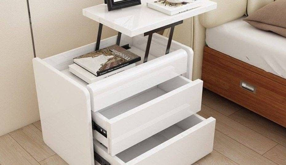 Bedrooms Simple Bedside Table Designs For Small Spaces Round Brilliant Side Table Design Bar In 2020 Creative Bedside Table Bedside Table Design Simple Bedside Tables