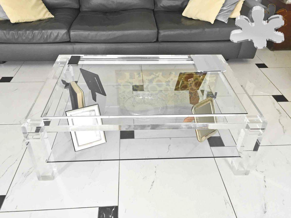 Acrylic Interiors Lucite Acrylic Coffe Table Tavolini Da