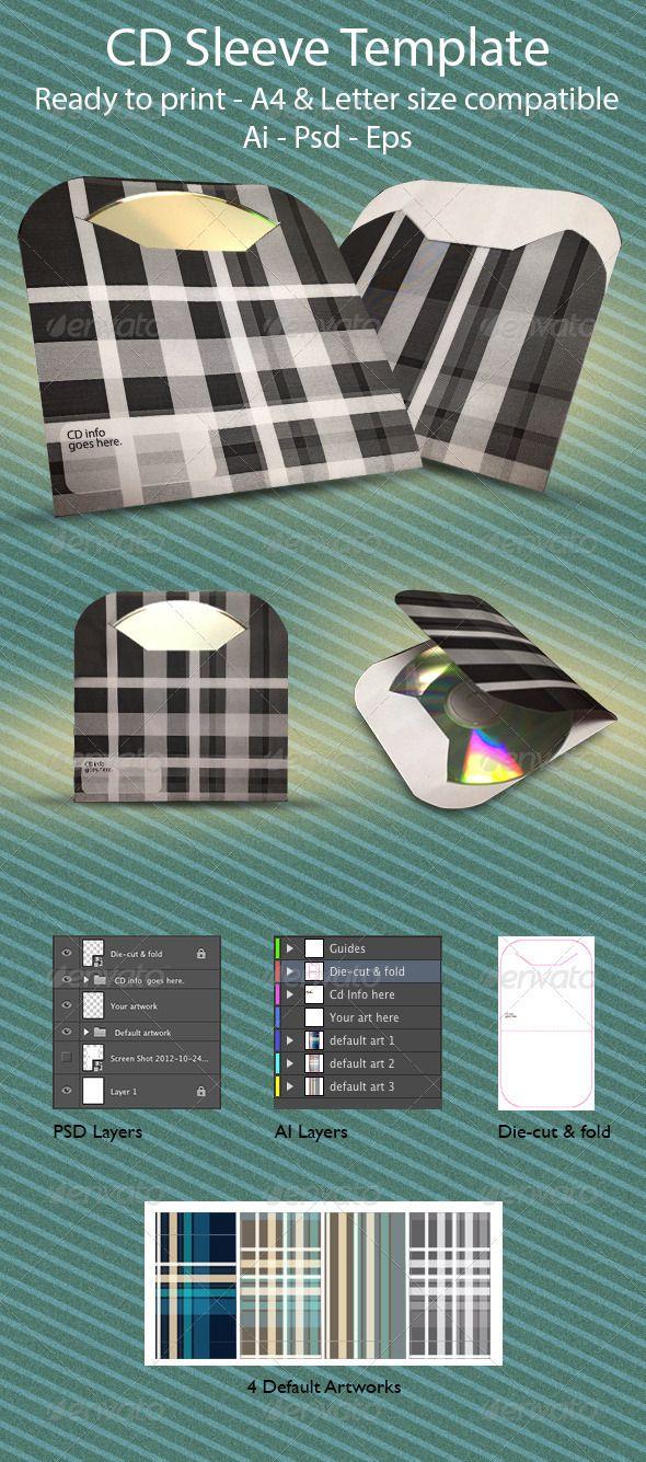 Minimal Cd Sleeve Minimal Template And Packaging Ideas