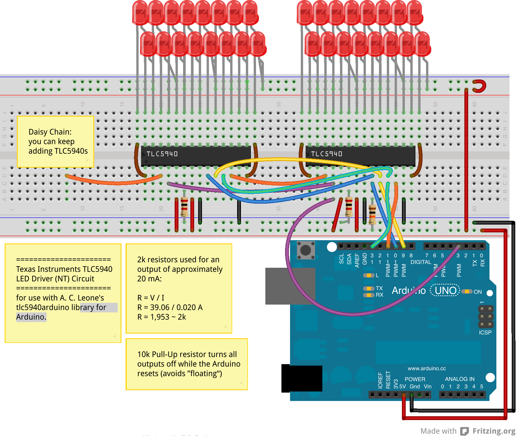 Tlc5940 Daisy Chain Electronik Pinterest Arduino Led And Wiring Drive 10 Servos With 2 Pins Diagram Google Search