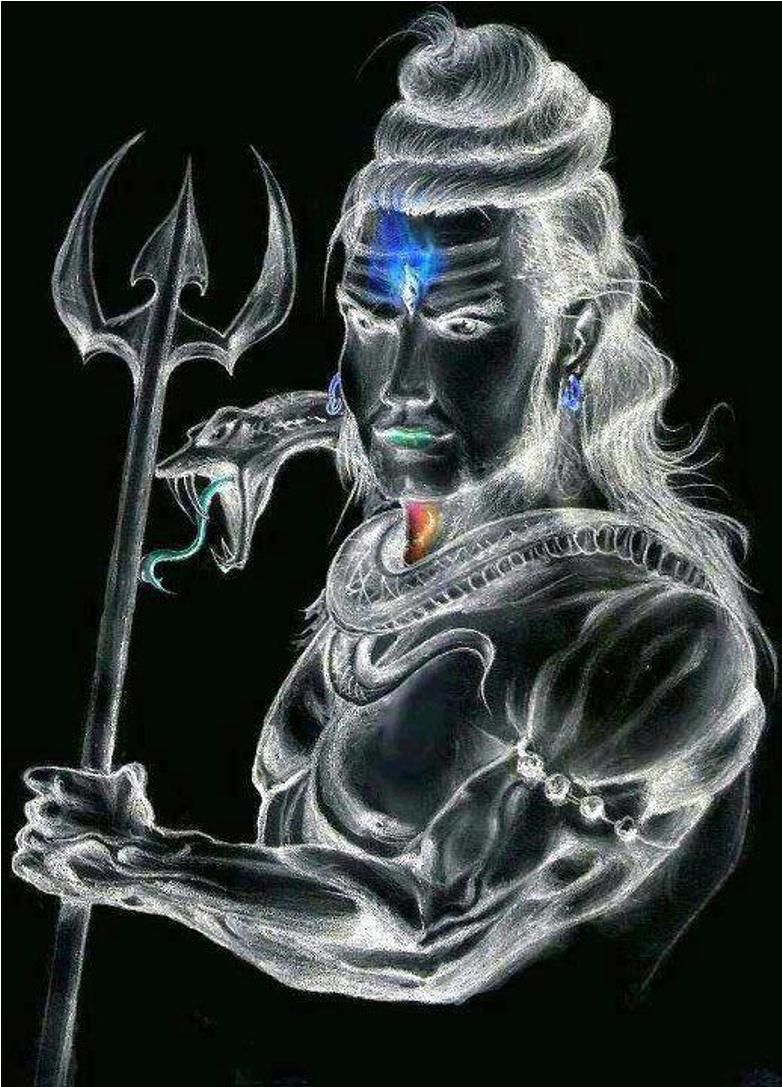 Neon Affect Lord Shiva Sketch Shiva Lord Wallpapers Lord Shiva Hd Wallpaper