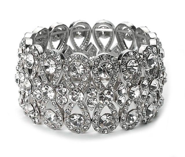 Rhinestone wedding bracelet wedding pinterest wedding rhinestone wedding bracelet junglespirit Choice Image