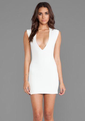 Aq Aq Sparta Mini Dress In Cream New Years Bombshell Fashion