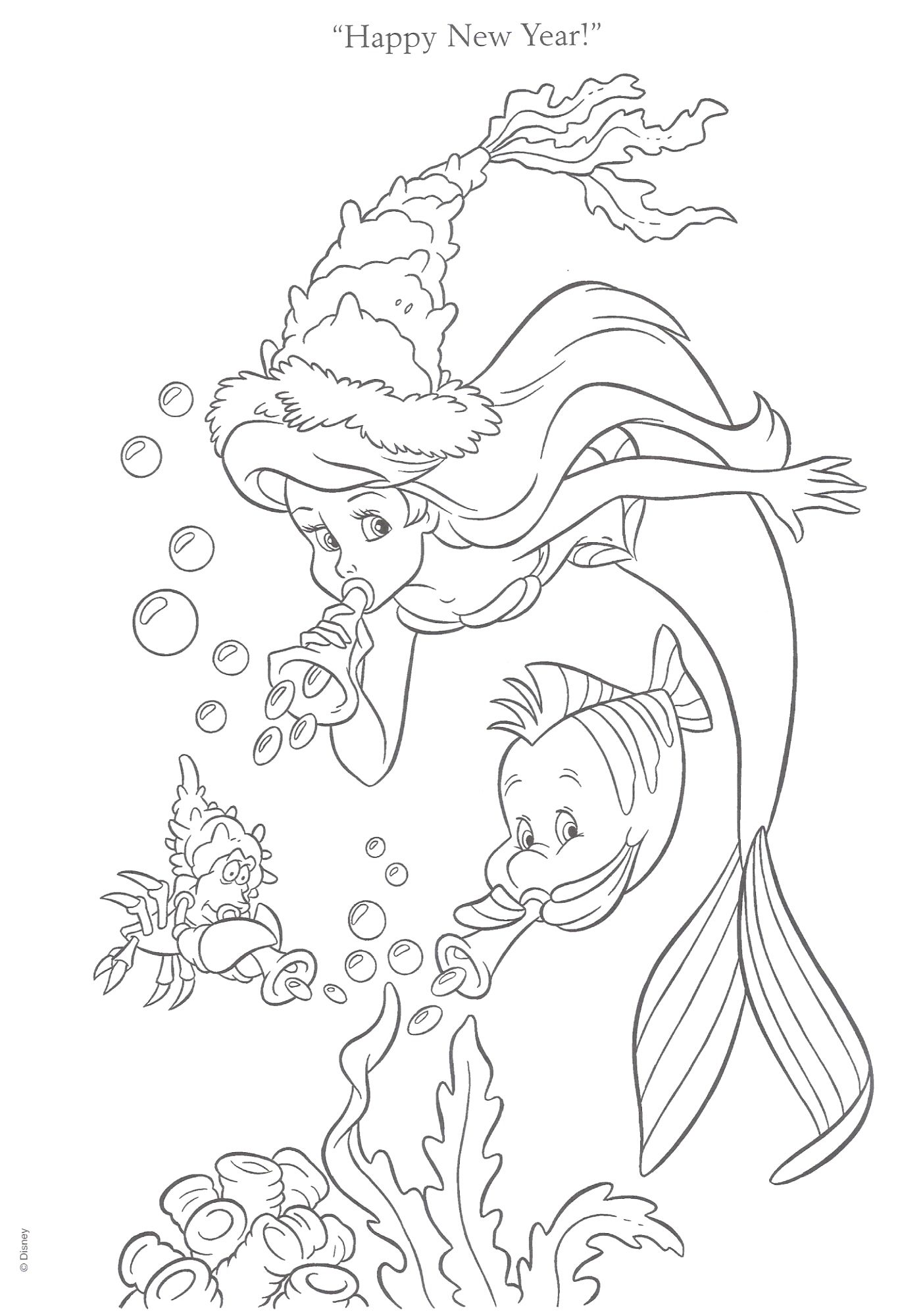 Free Coloring Pages Disney S The Little Mermaid Little Mermaid
