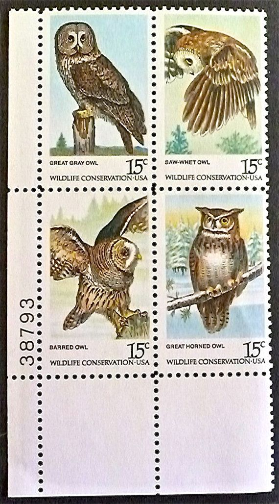 1978 American Owls Vintage US Postage Stamp Scott  by StampsPlus, $2.49