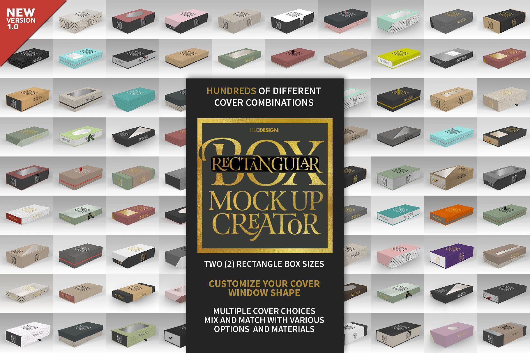 Download Rectangular Box Mock Up Creator Design Mockup Free Mockup Template Free Mockup