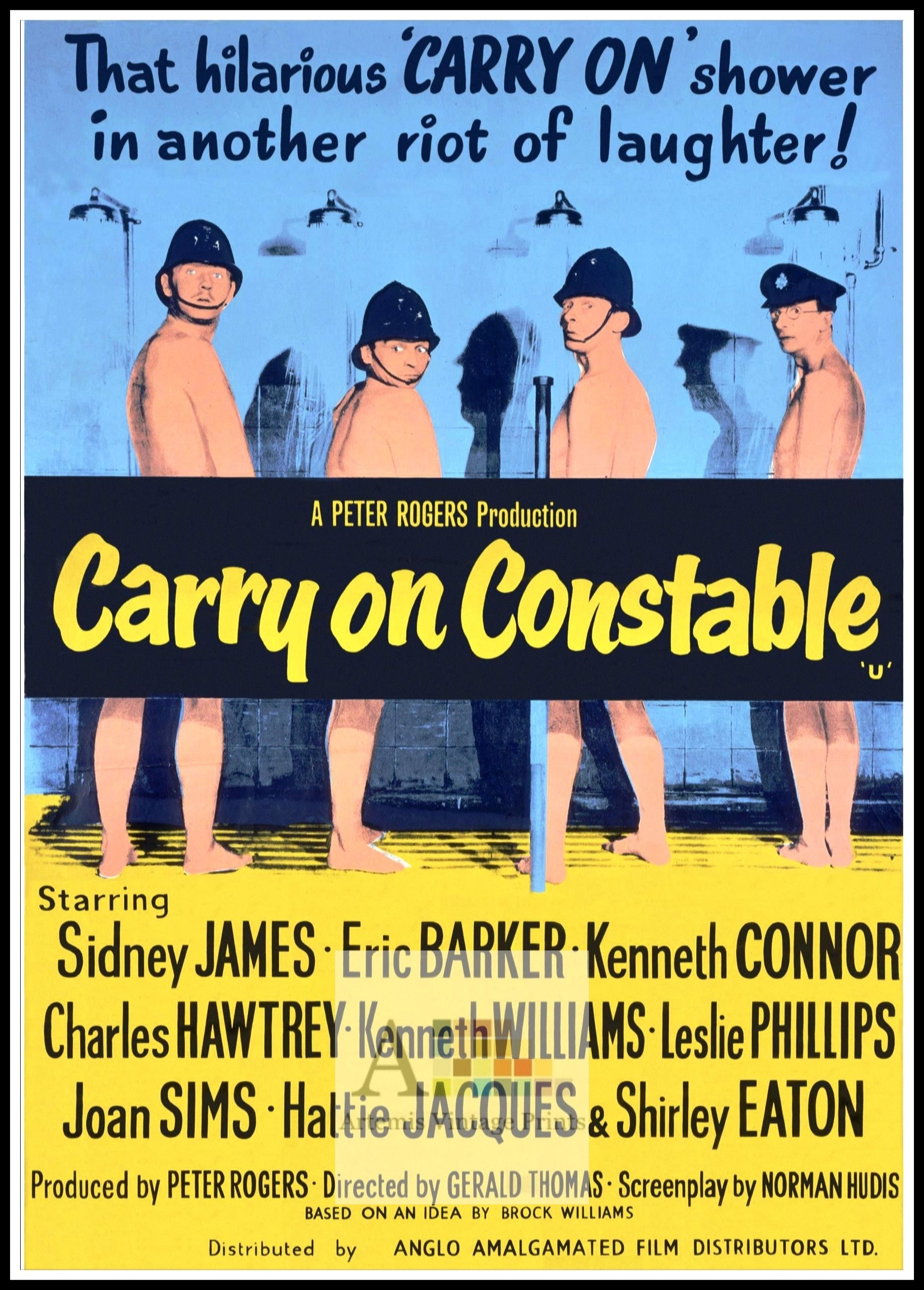 Carry on Teacher Vintage British comedy film Poster reproduction.