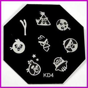 Free Shipping    Nail Stamping Plate    KD4   Lovely Bird Series   Nail Image Plates  10pcs/lot-in Nail Art Templates from Beauty  Health on Aliexpress.com $14.80