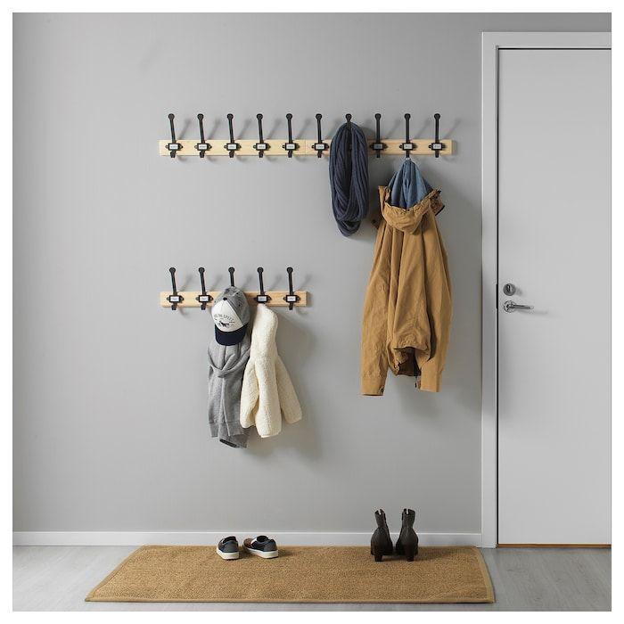 Kartotek Patere 5 Crochets Pin Gris Materiau Durable Ikea Colgadores De Ropa Colgador Decorar Entrada Casa