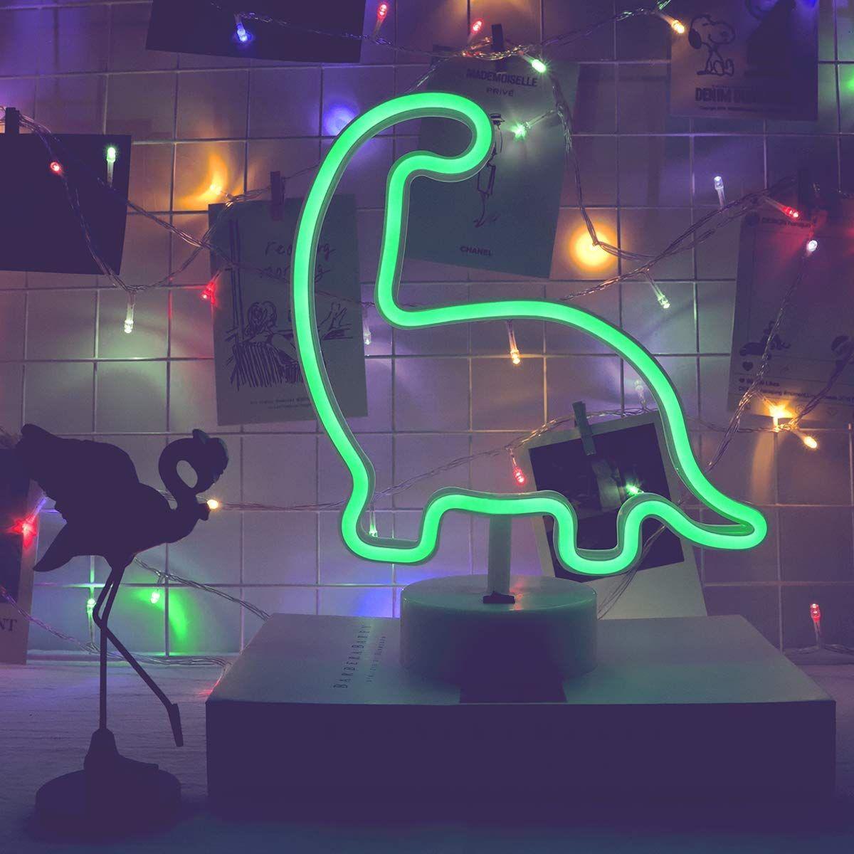Green Neon Dinosaur (With images) Dinosaur light, Neon