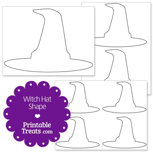 picture about Witch Hat Printable titled Pin upon Printables