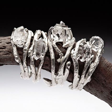 elvish diamond rings by joanna szkiela look simple yet stunning3 - Elvish Wedding Rings