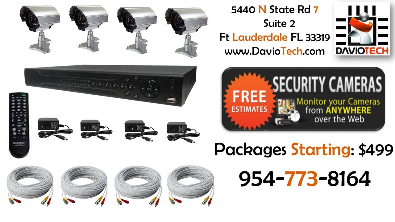 Security Camera Packages Starting At: $499
