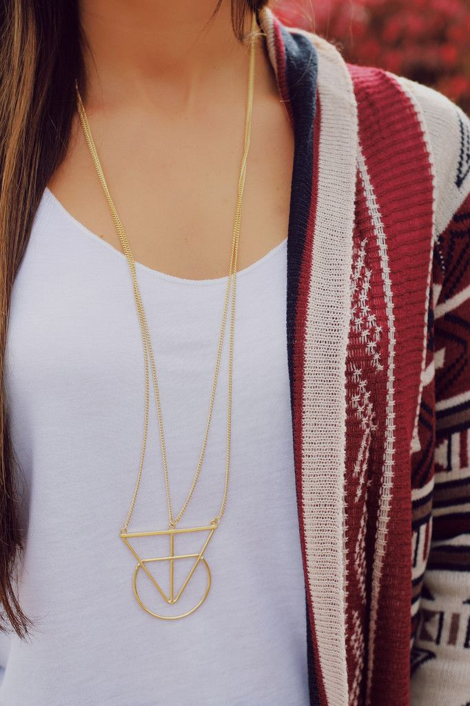Layered Geometric Longline Necklace – UOIOnline.com: Women's Clothing Boutique