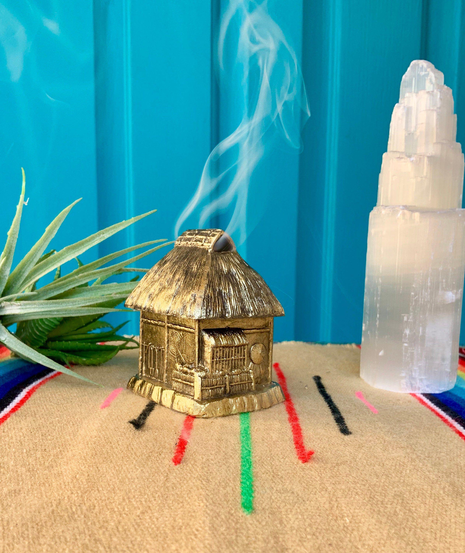 FREE SHIPPING-Vintage Fun Brass Turtle Incense Burner-Turtle Incense Holder-Brass Turtle Censer-Hippie-Bohemian-Meditation-Mid Century