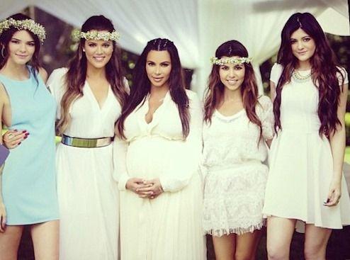 Attractive Kimu0027s Kardashian Baby Shower Alongside Her Sisters Khloe Kardashian, Kourtney  Kardashian, Kendall Jenner And Kylie Jenner