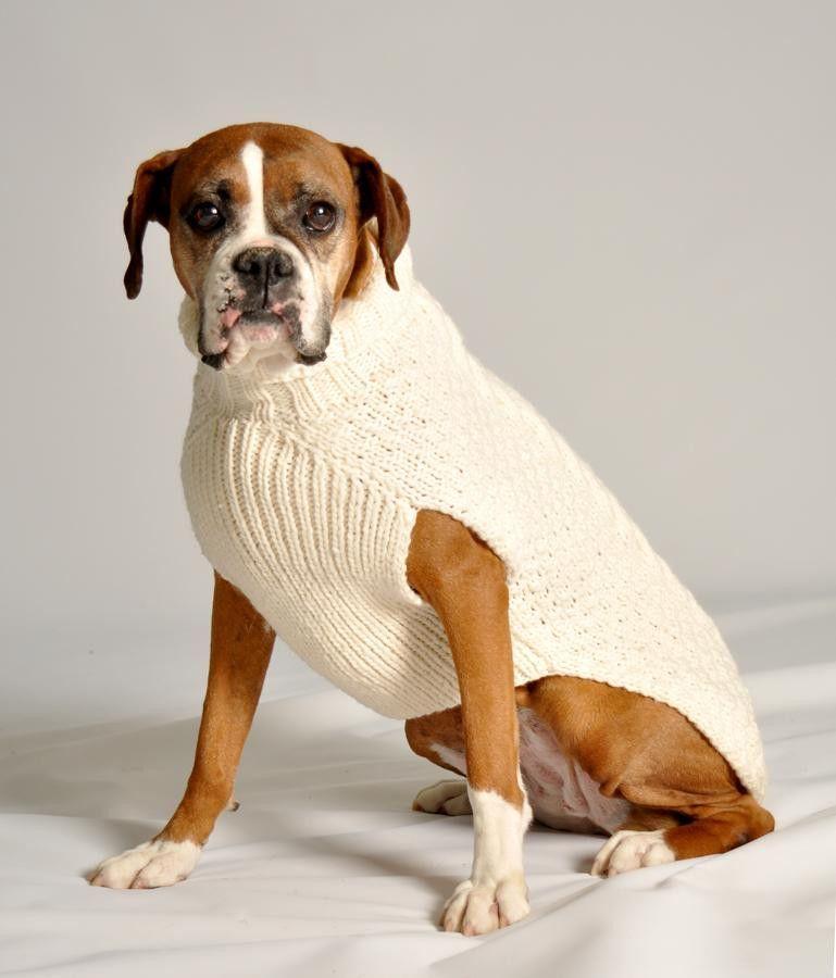 Handmade - Cable Knit Natural Dog Sweater | Ropa para perros, Mi ...