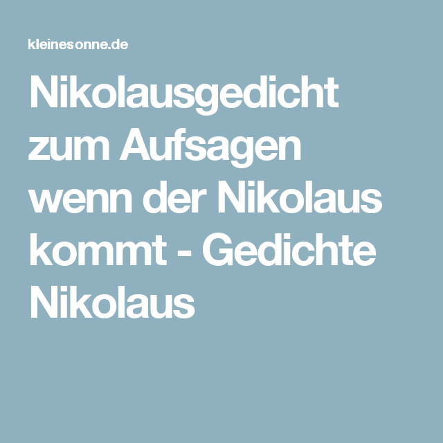Ausmalbilder Nikolaus Nikolausgedichte Gedicht Nikolaus Gedichte
