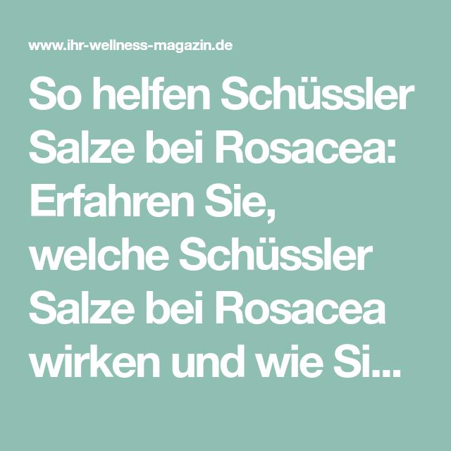Rosacea schüssler salze
