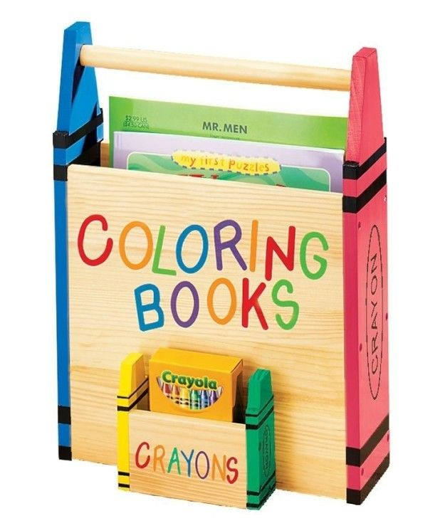 Squirrel Away Your Current Stress Relievers With This Coloring Book Box That Even Has A Crayon Compartment Coloring Book Storage Personalized Coloring Book Crayon Storage