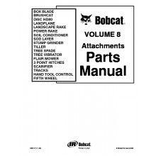 Bobcat Volume 8 Attachments Parts Manual PDF