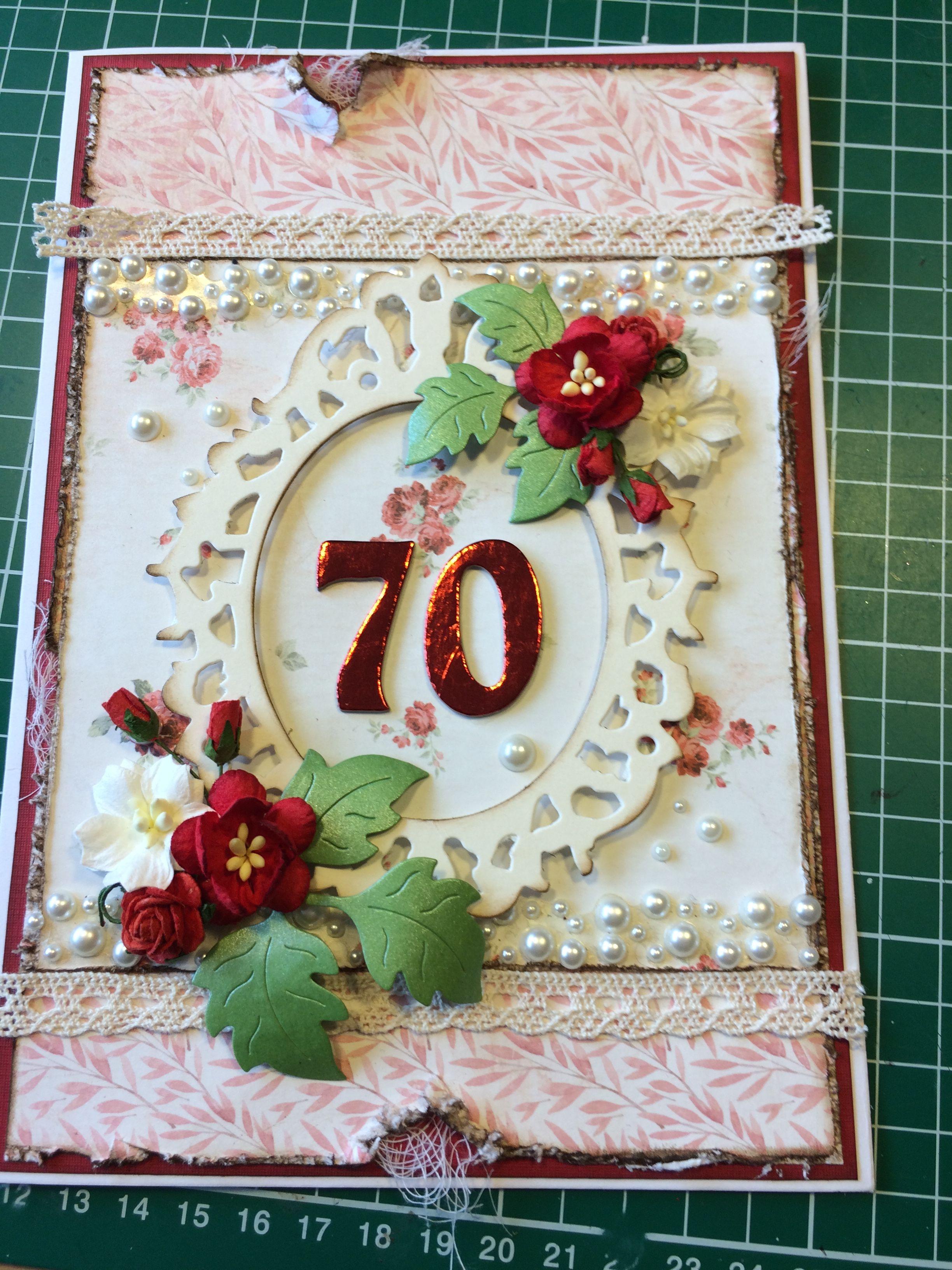 Kort til 70 års fødselsdag Maja Design 2016 | 70 års