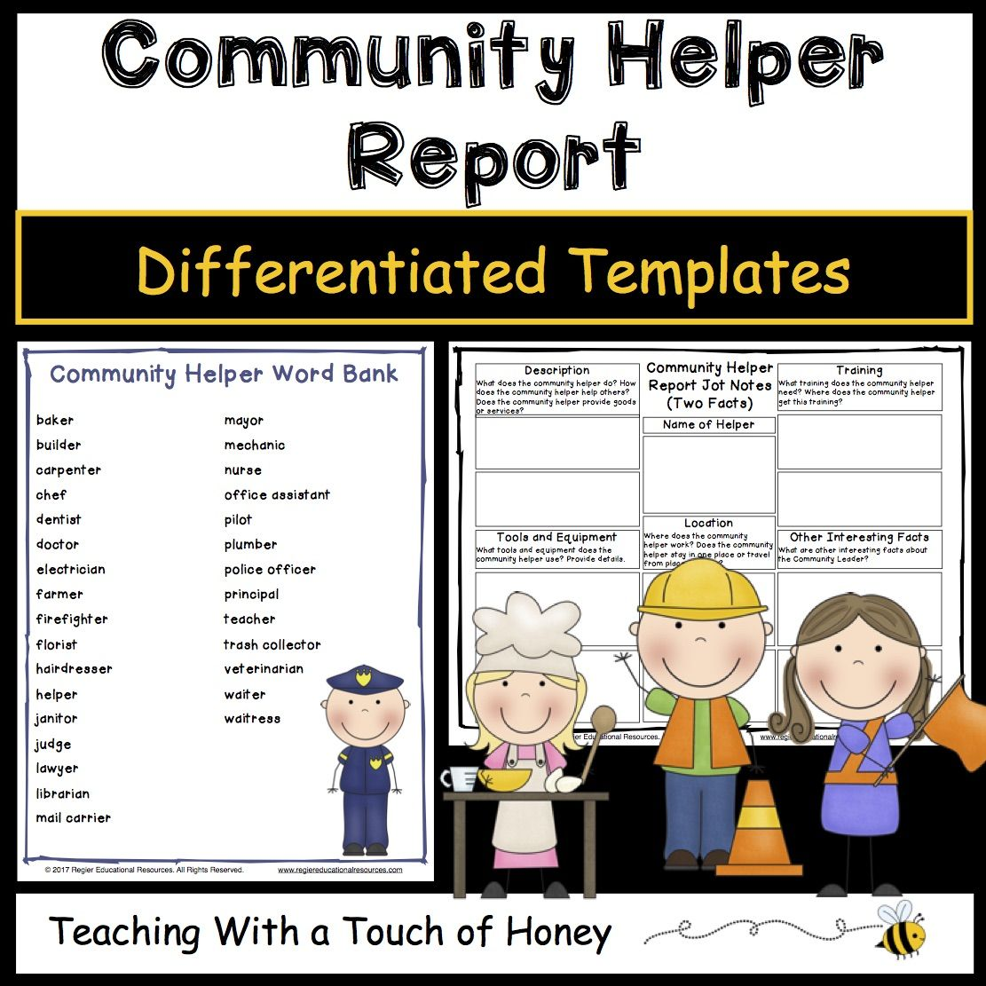 Community Helpers From Teaching With A Touch Of Honey