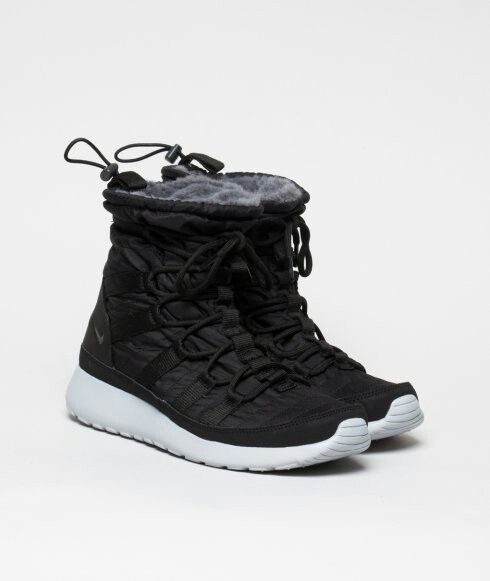 Nike Sportswear Womens Roshe Run Hi Sneakerboot Black Anthracite
