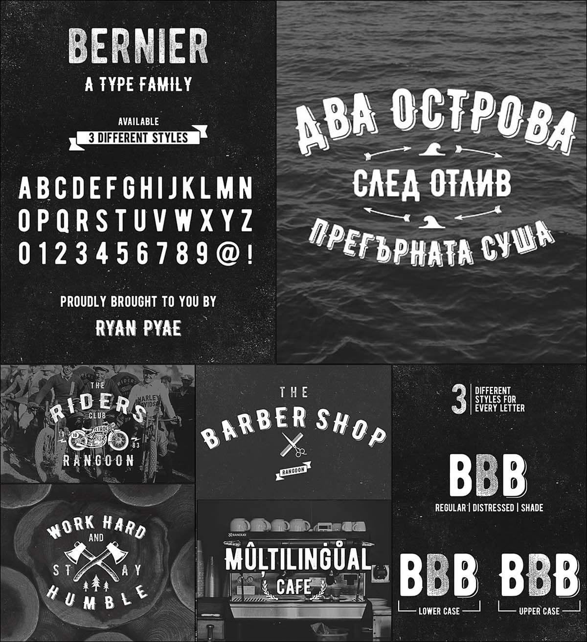 Bernier Retro Font Cyrillic And Latin