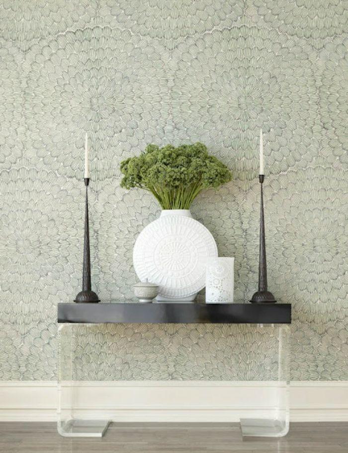 Lieblich Minimalistisches Interieur Moderne  Weiße Vase Vintage Kerzenhalter Elegante Tapeten