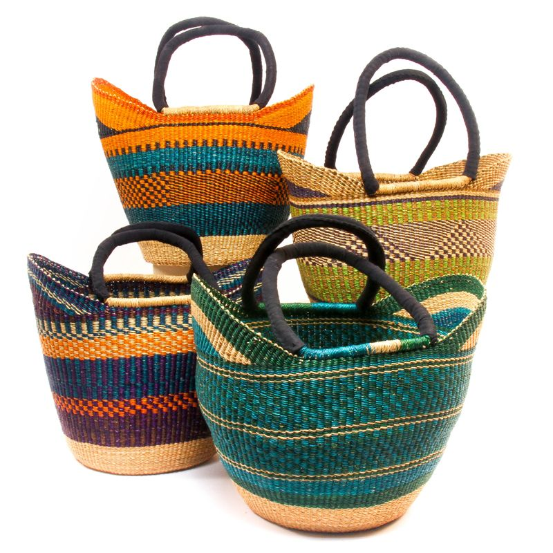 Baskets Of Africa Has A Whole Department Ping With Cloth Wred Handles Like These Beautiful Yikene Totes