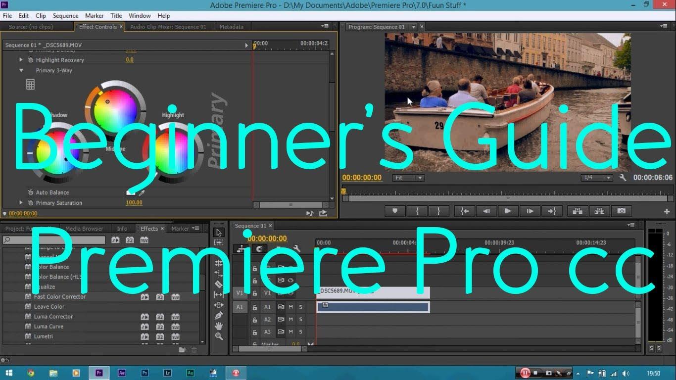 Beginner Video Editing Tutorial   Adobe Premiere Pro CC