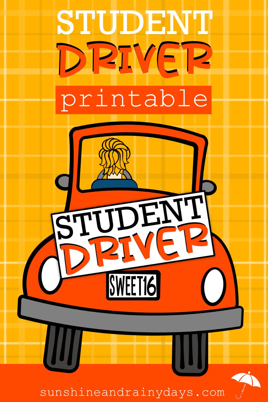 photograph regarding Student Driver Sign Printable named Pin upon Teenager driver