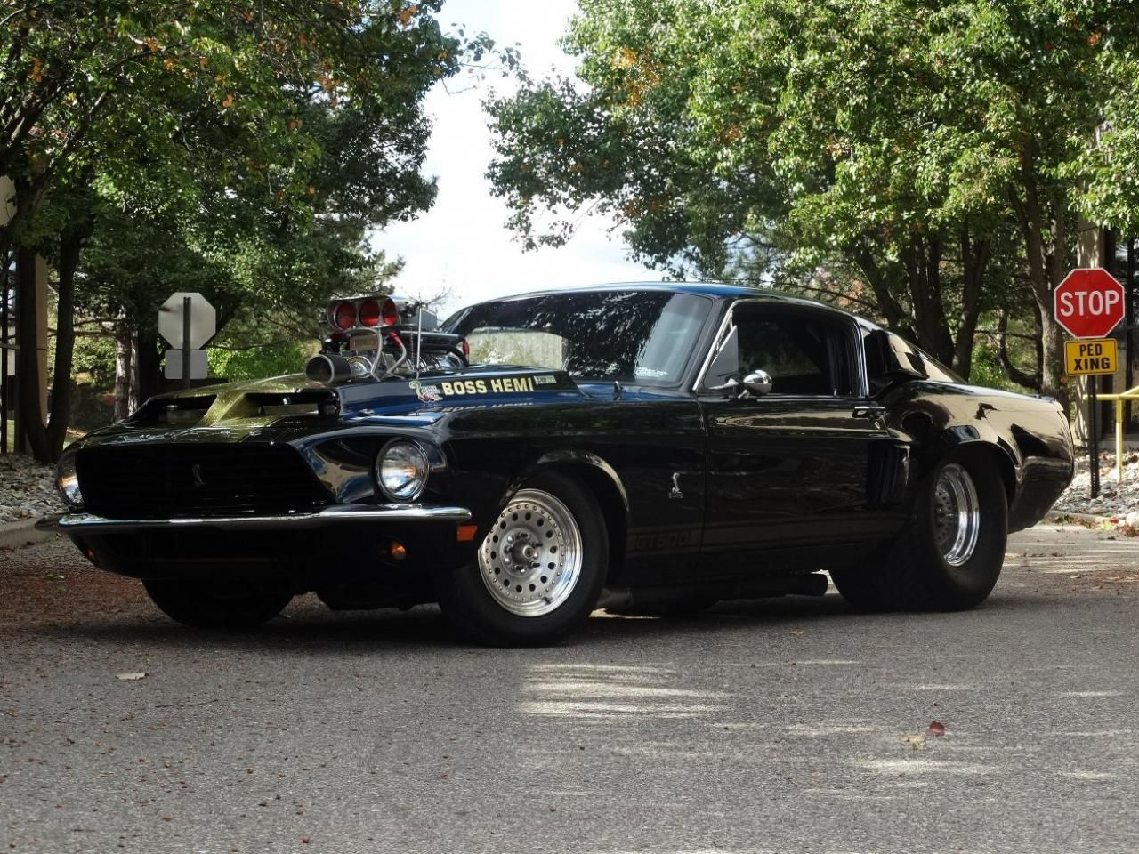 For sale in our Detroit, Michigan showroom is a Black 1968 Ford ...