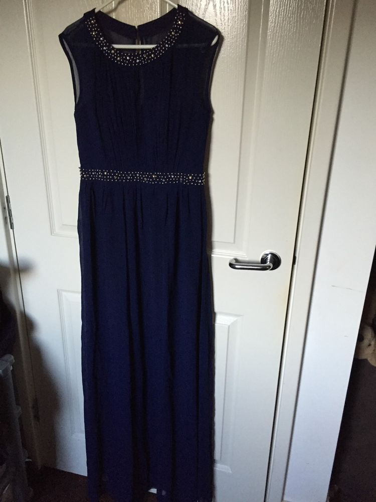 Little Mistress Size 10 Navy Maxiprom Dress Ebay For Sale