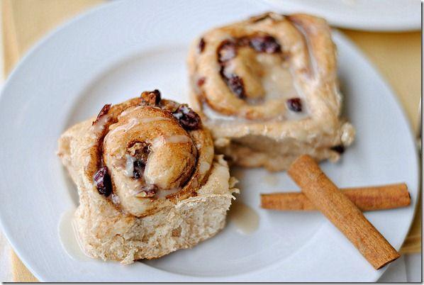 Eat Yourself Skinny - Cranberry Maple Cinnamon Rolls