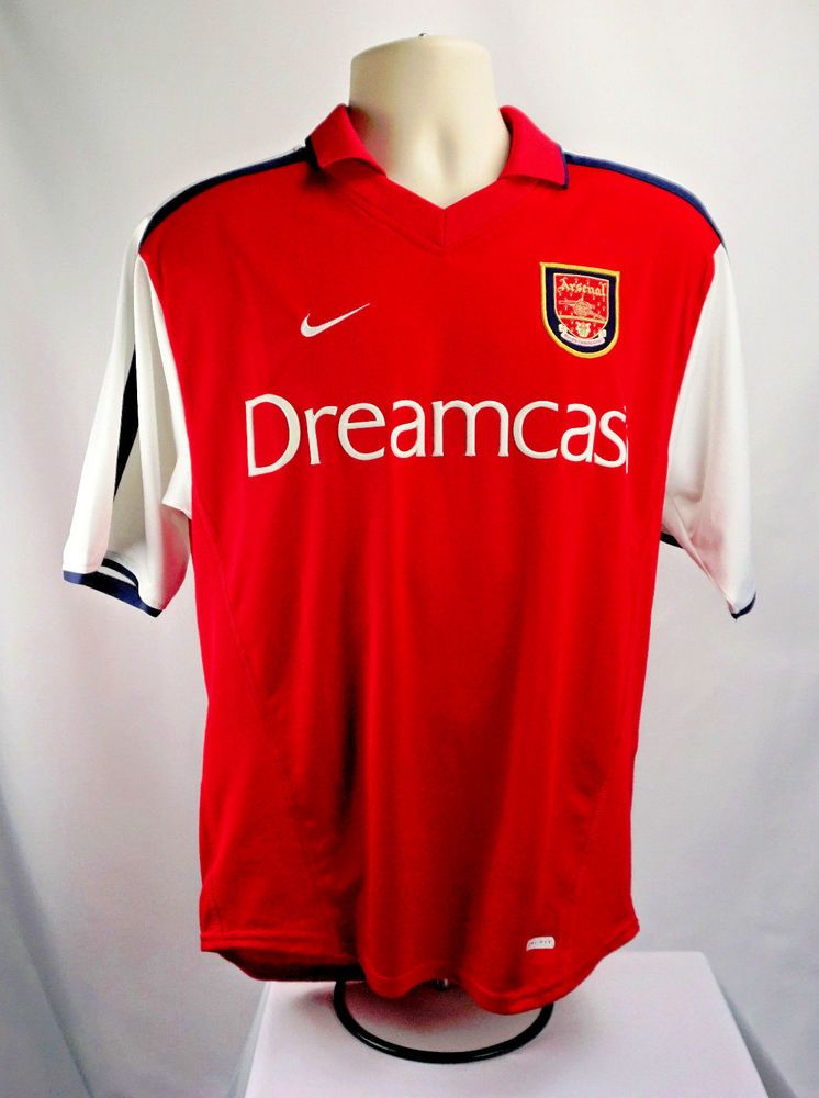ARSENAL 00-02 Home Soccer Football JERSEY ~ NIKE DREAMCAST ~ Vintage Very  Rare  Nike  Arsenal  Jerseys 7962b486a