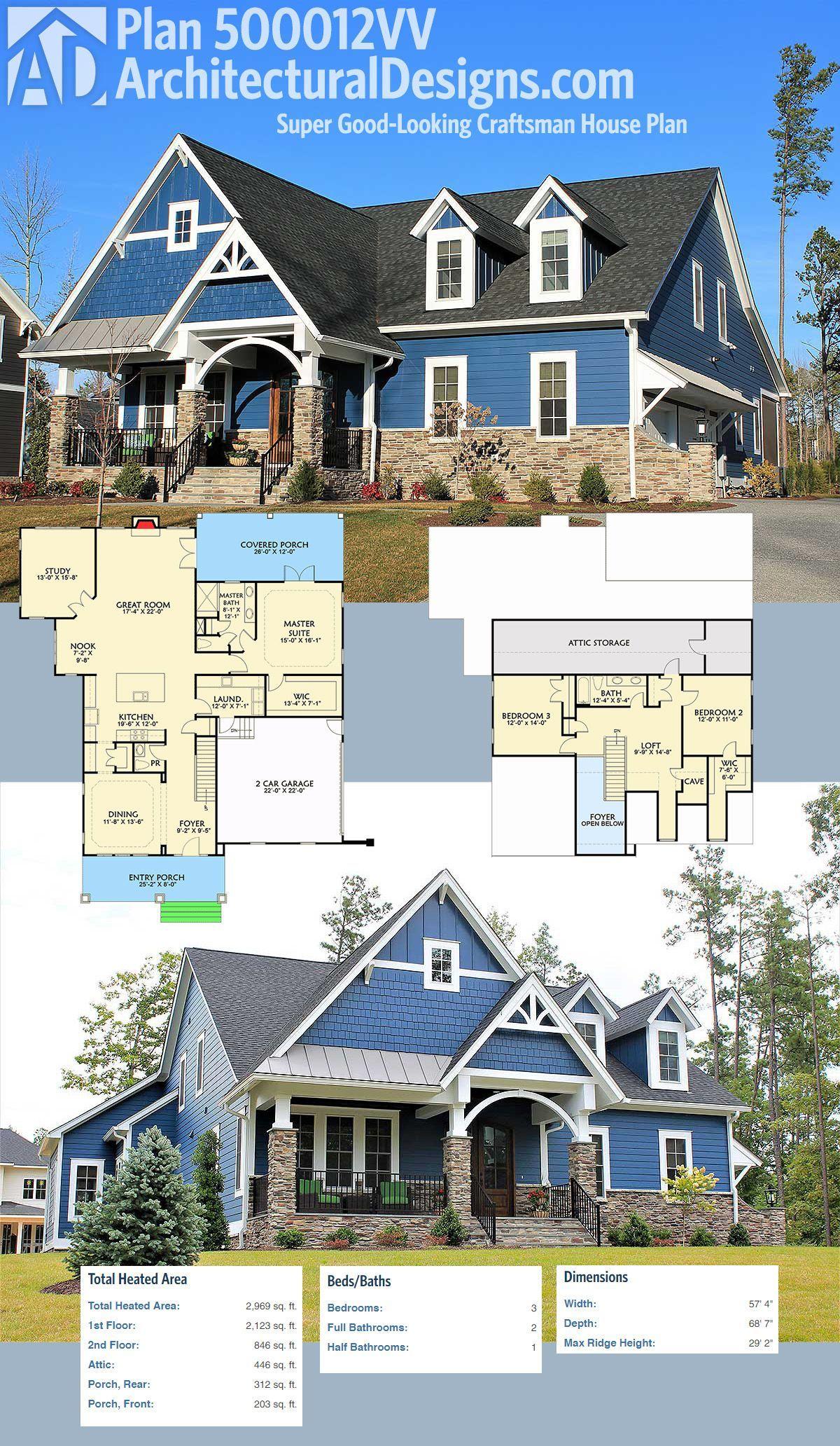 Architectural Designs Super Good Looking Craftsman House Plan