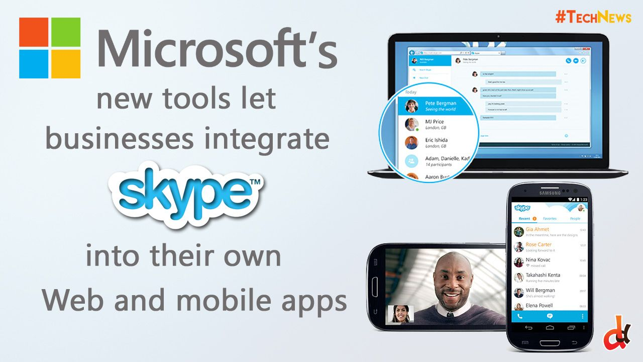 Microsoft unveiled two more SDKs for its Skype platform that will allow businesses and application developers a way to integrate Skype's capabilities into their own applications.  #TechNews  #Microsoft #SDKs #skype #business #applicationdevelopers #TechDaily  #DilemmasDiluted