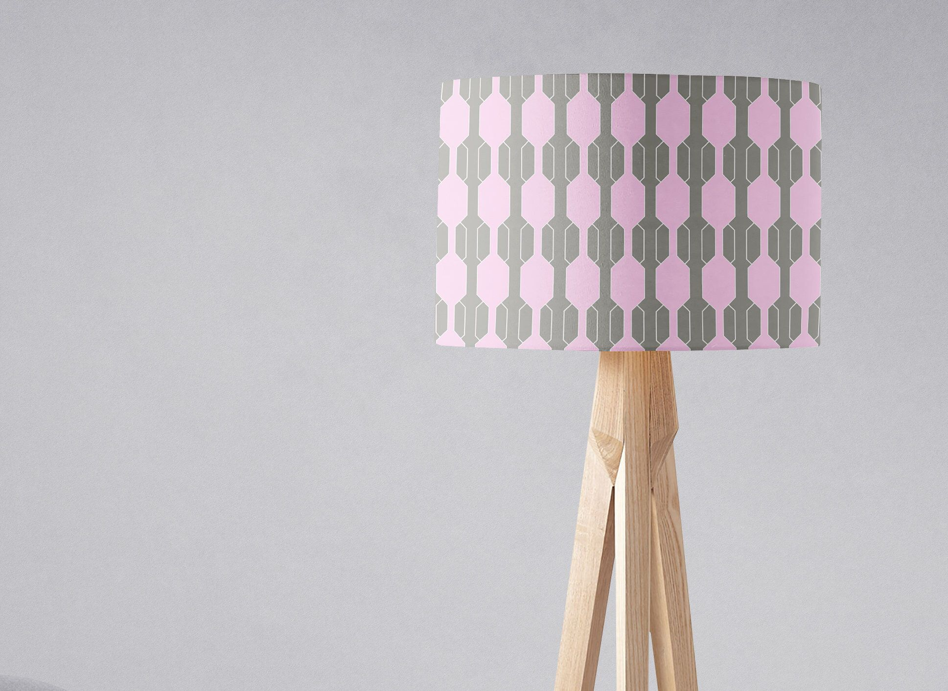 Grey And Pink Lampshade Grey Pink Nursery Pink Grey Decor Etsy Pink Floor Lamp Pink Nursery Decor Pink Home Decor